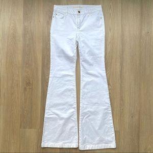 Michael Kors Selma Flare White Jeans Bell Bottoms
